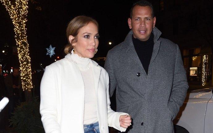 Jennifer Lopez and Alex Rodriguez leaving dinner at Nellos Restaurant