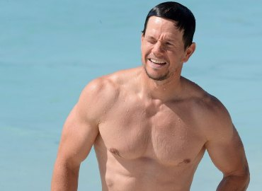 Mark Wahlberg enjoys a swim on New Year's Day in Barbados