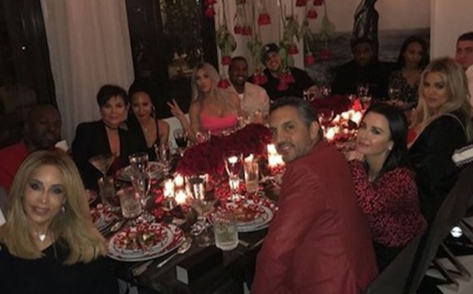 kris jenner corey gamble valentines day party pics pp