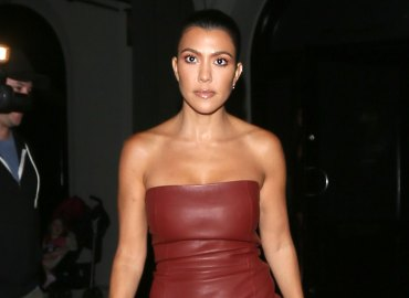 Kourtney Kardashian leather dress boyfriend drama