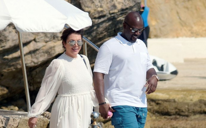 Kris Jenner Corey Gamble French Vacation