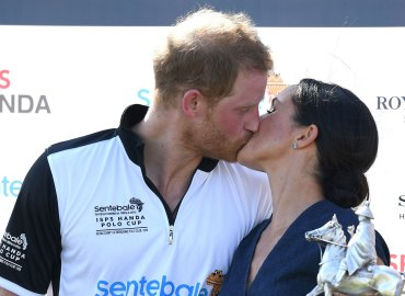 Prince Harry Meghan Markle Kiss Polo Match