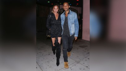 Chrissy Teigen and John Legend are spotted leaving the Dynasty Typewriter