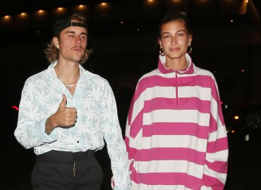 Justin Bieber mustache Hailey Baldwin church dinner streetwear