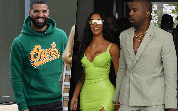Kim Kardashian Drake Kanye West Love Triangle