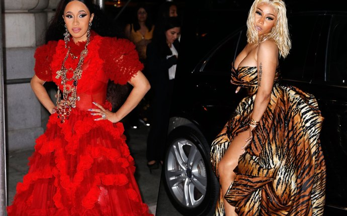 Nicki Minaj Cardi B Feud NYFW Harpers Party