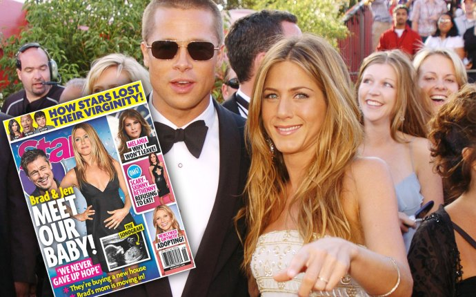 Brad Pitt Jennifer Aniston baby back together