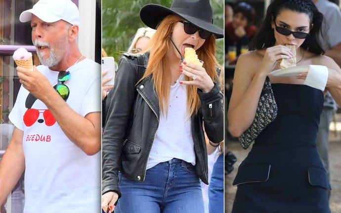 Celebrities Eating Food Bruce Willis Kendall Jenner Julianne Hough