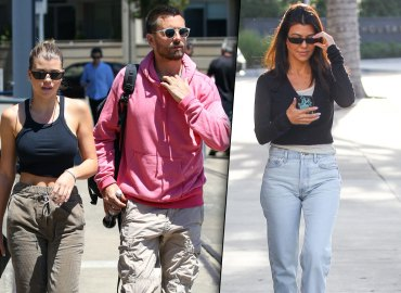 Kourtney Kardashian Sofia Richie Scott Disick Dinner Tense Kids KUWTK