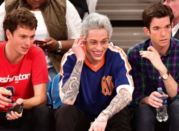 Pete davidson knicks game bullies ariana grande