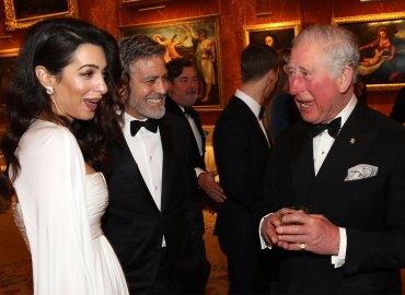 George amal clooney dinner prince charles buckingham palace