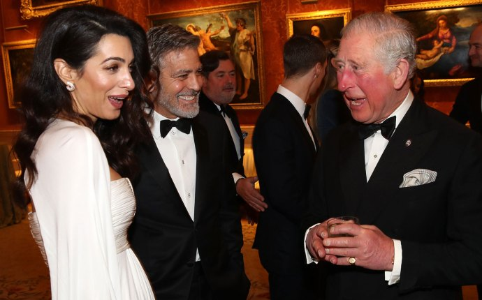 George amal clooney dinner prince charles buckingham palace