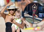 Eva longoria post baby body bikini beach photos