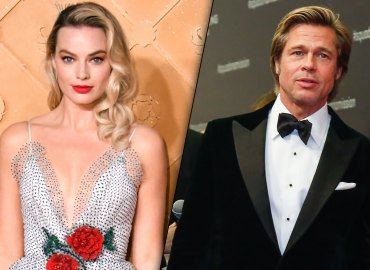 Margot robbie brad pitt more than friends flirting