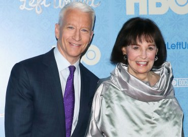 "Journalist Anderson Cooper and artist Gloria Vanderbilt attend the ""Nothing Left Unsaid"" New York premiere at Time Warner Center on April 4, 2016"