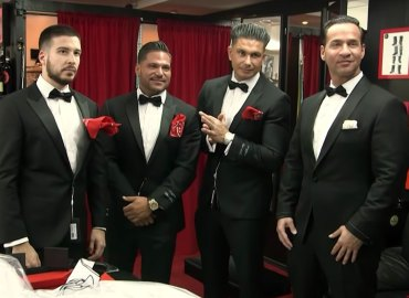 Jersey Shore cast in tuxedos