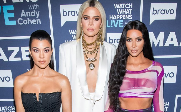 Kim, Khloe and Kourtney at Watch What Happens Live