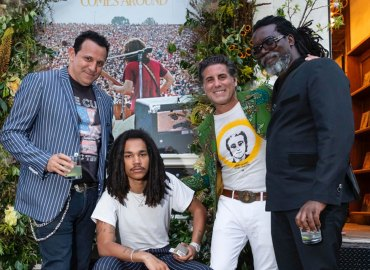 Luka Sabbat with his dad Clark and the WGACA founders