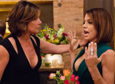 Luann de Lesseps and Bethenny Frankel fighting on RHONY