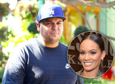 Rob Kardashian walking in a Dodgers hat / Evelyn Lozada smiling