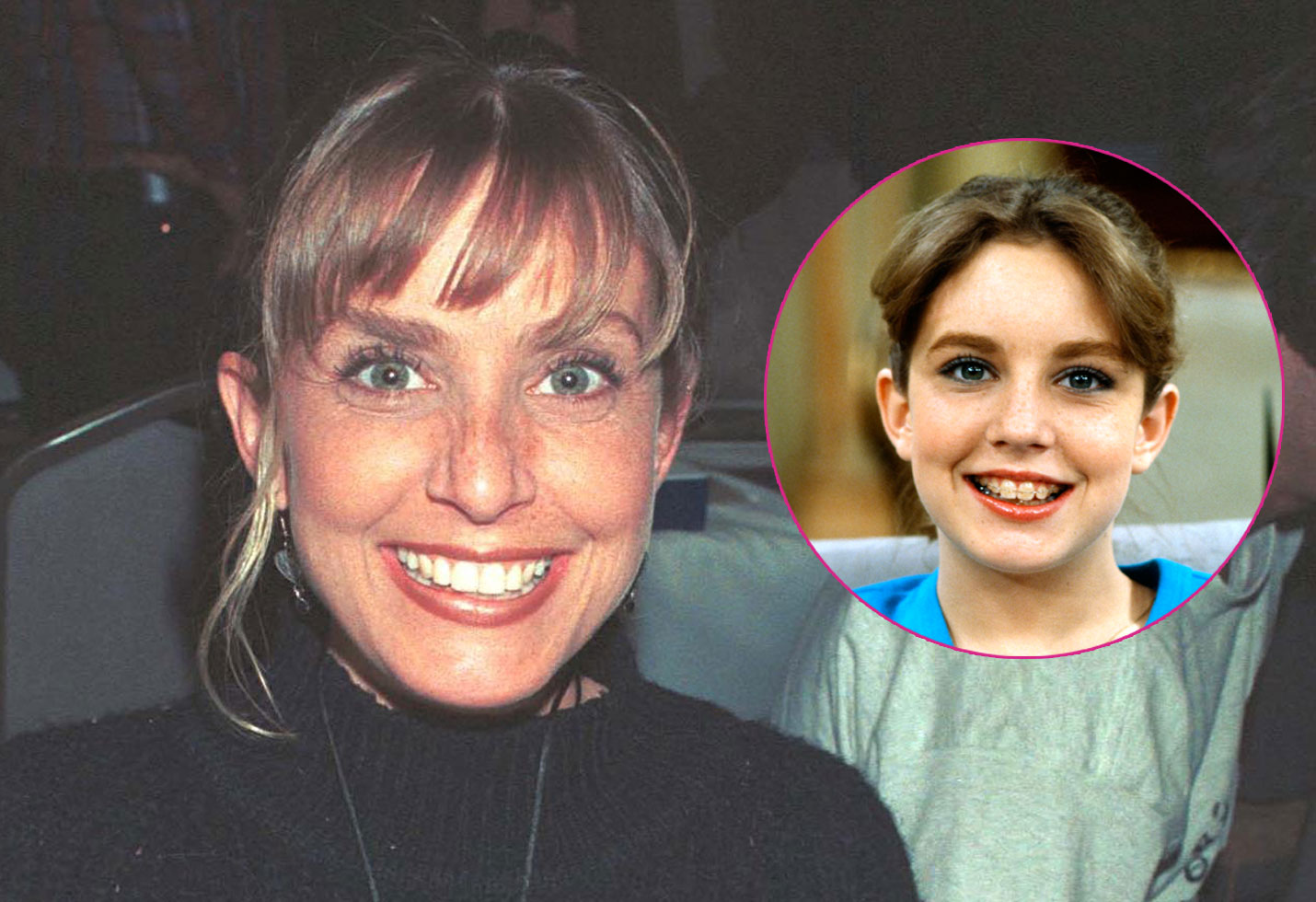 "Dana Plato (""Diff''rent Strokes"") at the Hollywood Collectors Show. Inset right, Dana Plato as Kimberly Drummond."