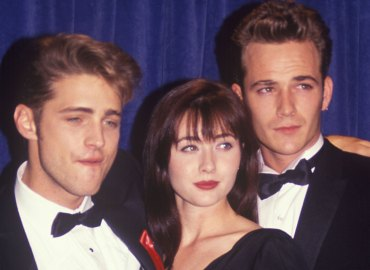 ASON PRIESTLY, SHANNEN DOHERTY and LUKE PERRY