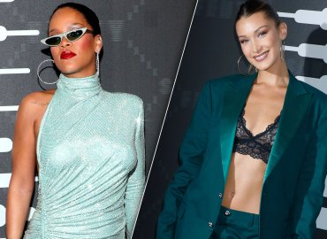 Rihanna and Bella Hadid