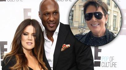 Khloe Kardashian and Lamar Odom and Kris Jenner