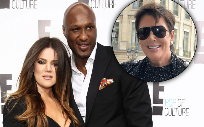 Khloe Kardashian and Lamar Odom and Kris Jenner
