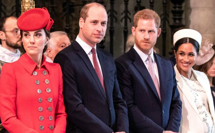 -PICTURED: Catherine, Duchess of Cambridge, Prince William, Duke of Cambridge, Prince Harry, Duke of Sussex, Meghan, Duchess of Sussex