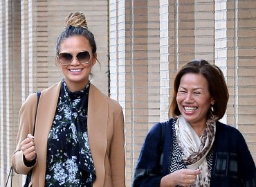 Chrissy Teigen and mom Vilailuck