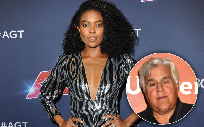 Gabrielle Union and Jay Leno
