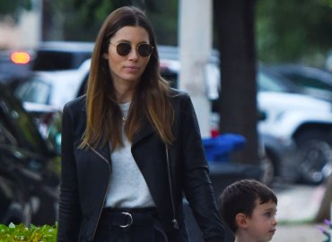Jessica Biel and her son Silas