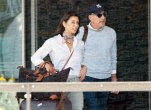 Matt Lauer and new girlfriend Shamin Abas at the airport