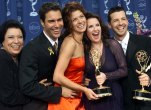 Shelley Morrison, Eric McCormack, Debra Messing, Megan Mullally and Sean Hayes