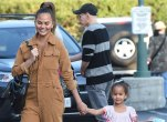 Chrissy Teigen and her daughter Luna