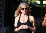 Goldie Hawn dressed in all black sports gear seen heading to lunch