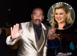 Kelly Clarkson and Steve Harvey