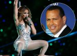 Jennifer Lopez during Super Bowl Halftime Show and A-Rod
