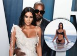 Kim Kardashian and Kanye West; Kim Kardashian in a bikini