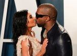 Kim Kardashian and Kanye West Kissing
