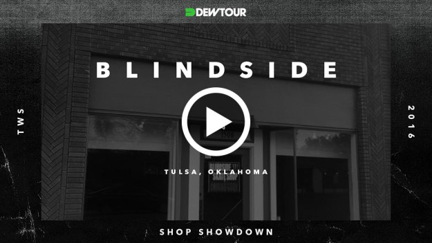 Blindside thumb play button
