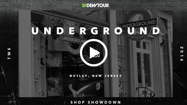 Underground shop showdown marquee