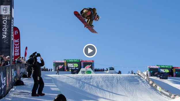 Chloe Kim practice hits beyond the bib
