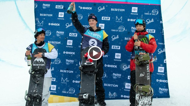 Halfpipe Winning Runs Burton US Open 2019