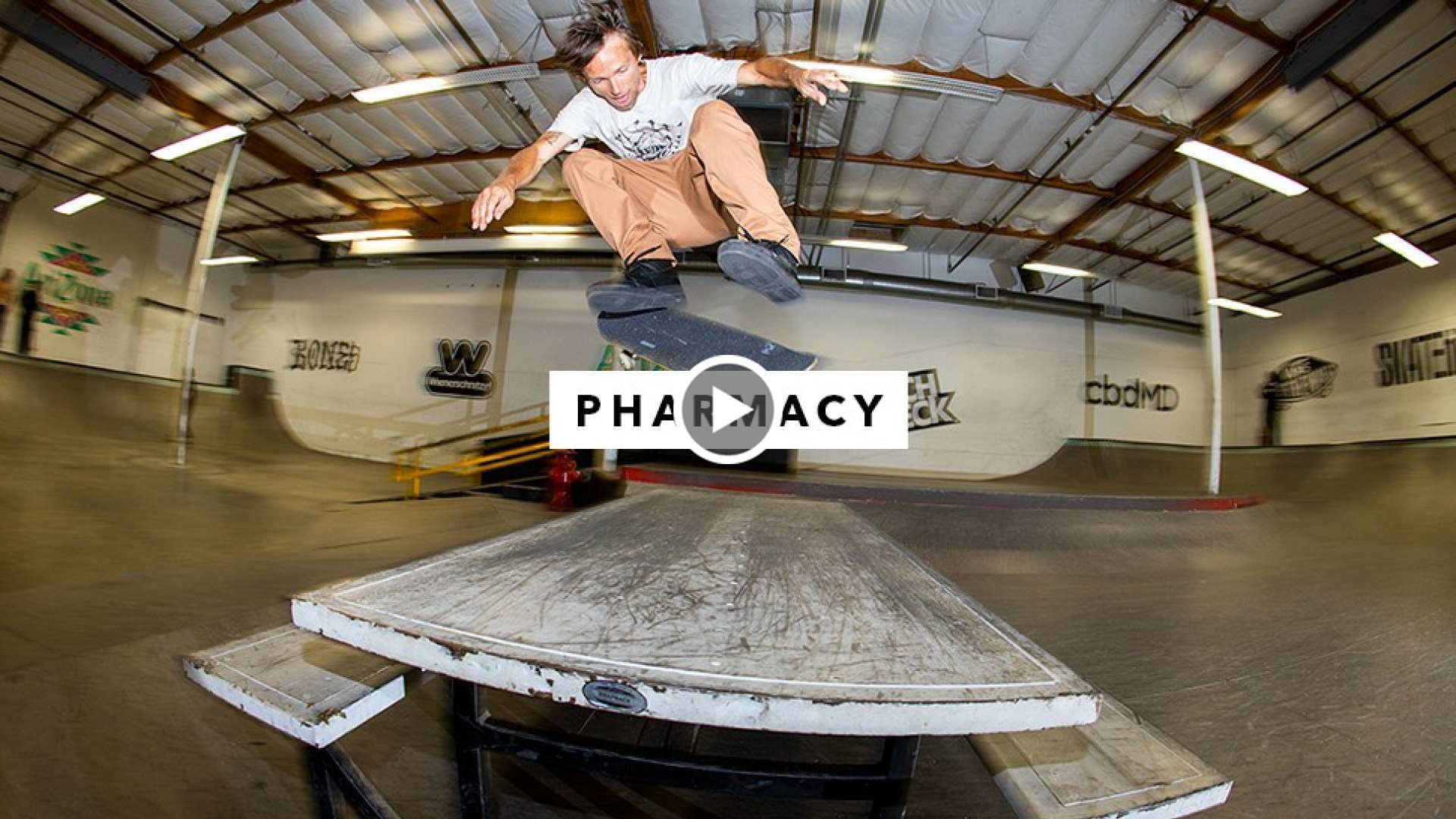 Pharmacy Boardshop Team Riders in the TransWorld SKATEboarding Park