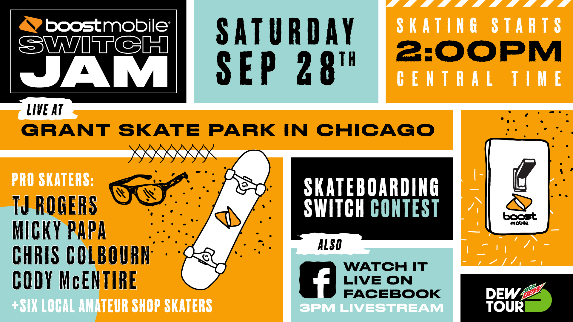Watch the Boost Mobile Switch Jam Chicago Livestream On Saturday, September 28th