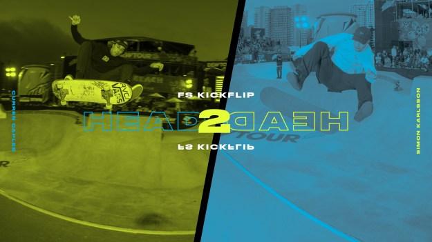 Head 2 Head Curren Caples vs Simon Karlsson Frontside Kickflip