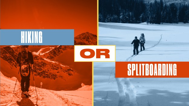 either or hiking or splitboarding