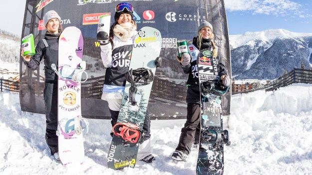 Women's Snowboard Modified Superpipe Winning Runs